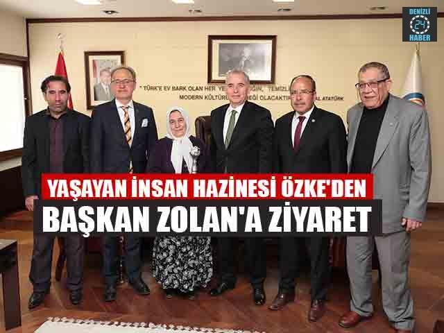 Yaşayan İnsan Hazinesi Halime Özke'den Başkan Zolan'a Ziyaret