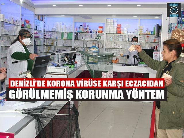 Denizli'de Korona Virüse Karşı Eczacıdan Görülmemiş Korunma Yöntem
