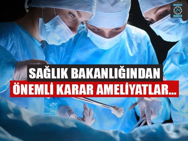 Sağlık Bakanlığı genelge gönderdi! Acil olmayan ameliyatların durdurulması istendi