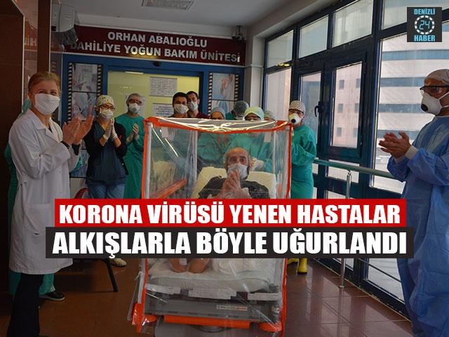 Korona Virüsü Yenen Hastalar Alkışlarla Böyle Uğurlandı