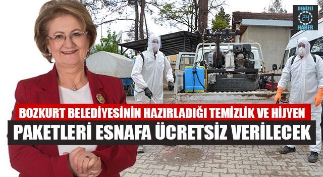 Bozkurt Belediyesi'den esnafa Temizlik Ve Hijyen Paketleri