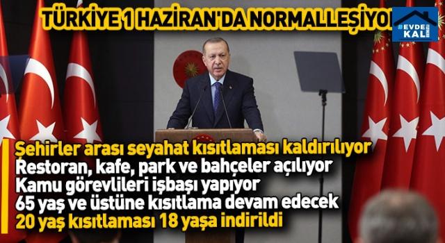Cumhurbaşkanı Erdoğan açıkladı: İşte yeni normalleşme kararları