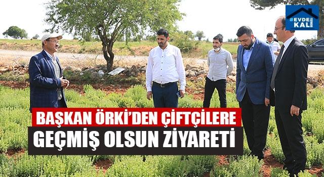 Başkan Avni Örki'den Çiftçilere Geçmiş Olsun Ziyareti