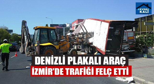 Denizli Plakalı Araç İzmir'de Trafiği Felç Etti