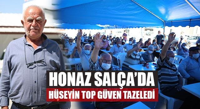 Honaz Salça'da Hüseyin Top Güven Tazeledi