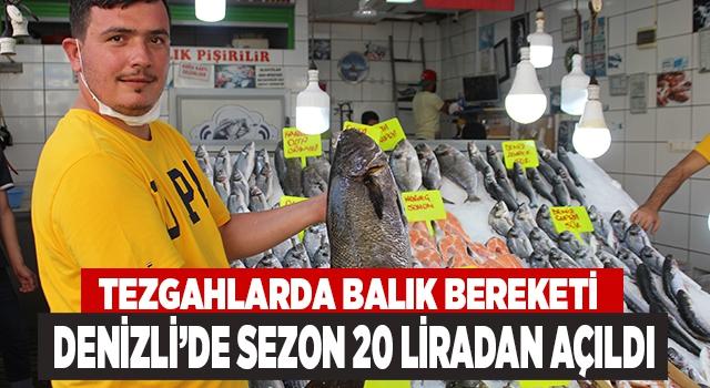 Denizli'de sezon açıldı balıklar tezgahtaki yerini aldı