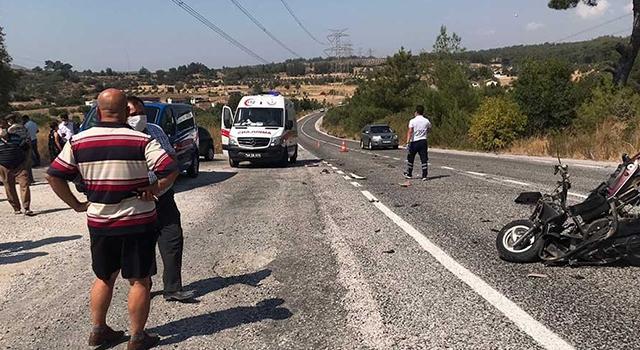 Milas'ta Motosiklet Kazası Ömer Özdemir Ağır Yaralandı
