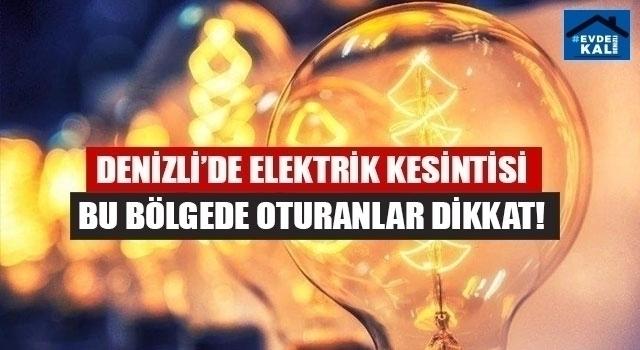 Denizli elektrik kesintisi (31 Ekim 2020)