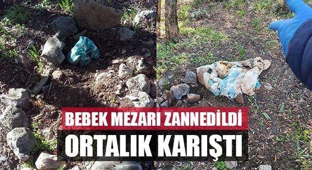 Bebek mezarı zannedildi ortalık karıştı