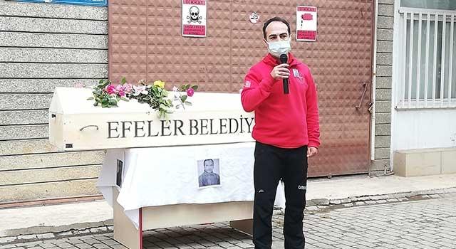 Koronadan ölen hastane personeli Aytaç Bayram, iş arkadaşları tarafından anıldı