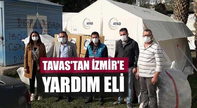 Tavas'tan İzmir'e yardım eli