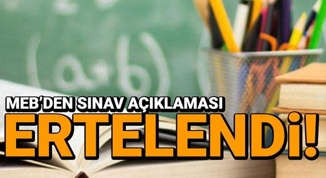 Açıköğretim ortaokulu ve lise sınavları ertelendi