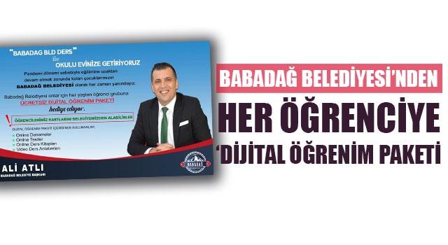 Babadağ Belediyesi'nden Her Öğrenciye 'Dijital Öğrenim Paketi
