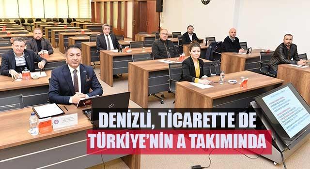 Denizli, Ticarette De Türkiye'nin A Takımında