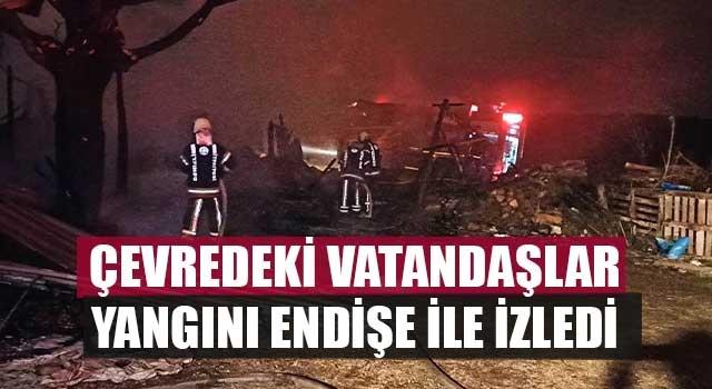 Denizli'de besihanede çıkan yangın korkuttu