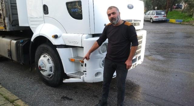 Selde tırın altına sürüklenen kadını kurtaran şoför o anları anlattı