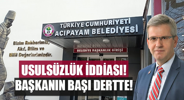Acıpayam Belediye Başkanı'nın usulsüz olarak belediye borç verdiği iddia edildi