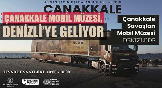 Çanakkale Mobil Müzesi, Denizli'ye geliyor