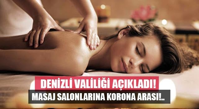 Denizli'de masaj salonları korona virüs nedeniyle kapatıldı