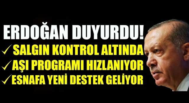 Cumhurbaşkanı Erdoğan'dan esnafa destek müjdesi!