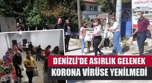 Denizli'de Asırlık gelenek korona virüse yenilmedi