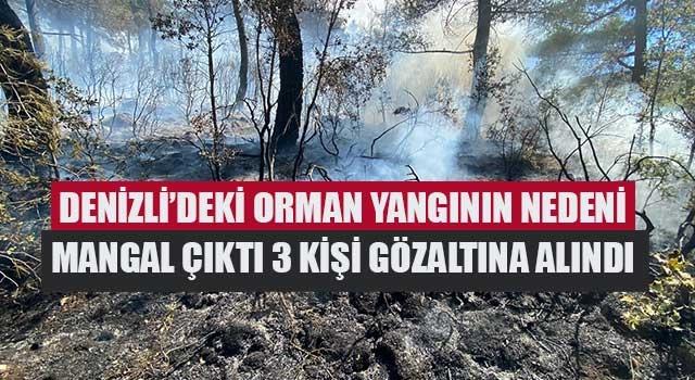 Denizli'deki orman yangının nedeni mangal çıktı 3 kişi gözaltına alındı