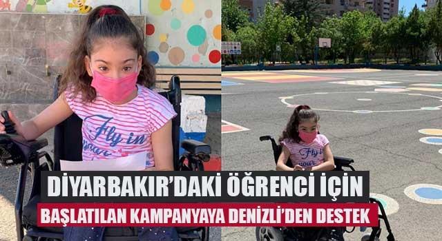 Diyarbakır'daki öğrenci için başlatılan kampanyaya Denizli'den destek