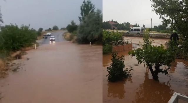 Denizli'de şiddetli yağış Çal'ı vurdu! Denizli yolu kapandı