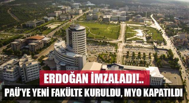 Pamukkale Üniversitesine yeni fakülte kuruldu