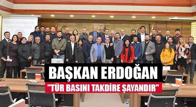 """Başkan Erdoğan, """"Tür basını takdire şayandır"""""""