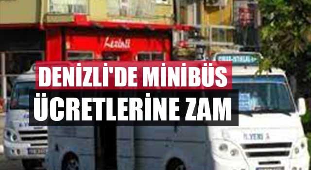 Denizli'de minibüs ücretlerine zam