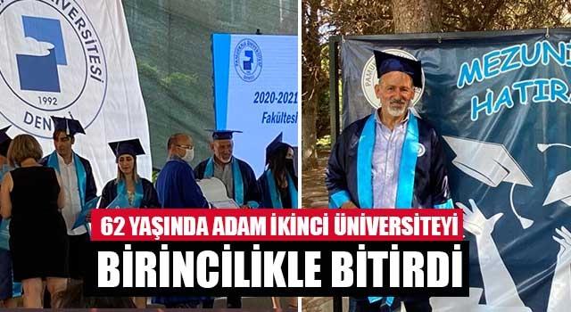 62 yaşında adam ikinci üniversiteyi birincilikle bitirdi
