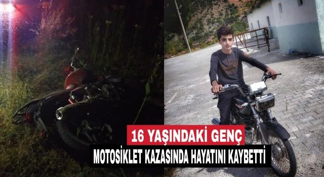 Denizli'de motosiklet uçuruma devrildi 16 yaşındaki genç öldü