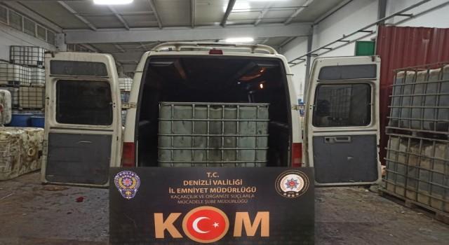 Kamyonetten 3 bin 200 litre kaçak akaryakıt ele geçirildi