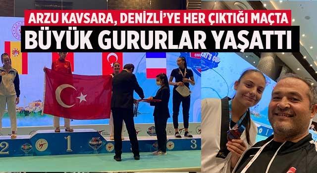 Arzu Kavsara, Denizli'ye her çıktığı maçta büyük gururlar yaşattı