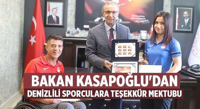 Bakan Kasapoğlu'dan Denizlili sporculara teşekkür mektubu