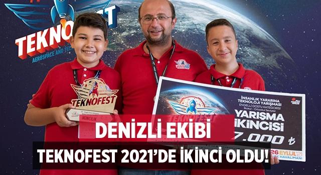 Denizli Servergazi İmam Hatip Ortaokulu Teknofest 2021'de Türkiye ikincisi oldu