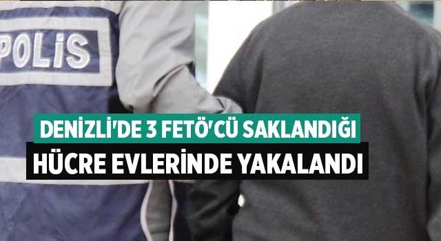 Denizli'de 3 FETÖ'cü saklandığı hücre evlerinde yakalandı