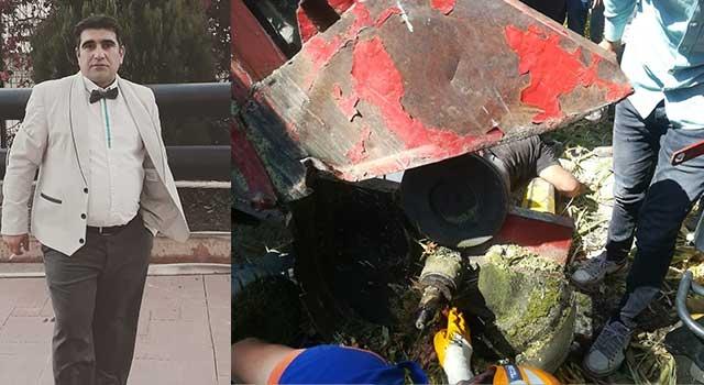 Sinanpaşa'da Sabri Ergin sol bacağını silaj makinasına kaptırdı