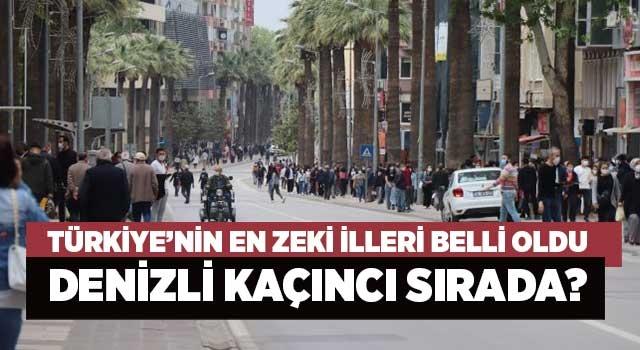 Türkiye'nin en zeki illeri belli oldu Denizli kaçıncı sırada?
