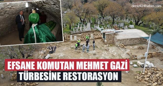 Efsane Komutan Mehmet Gazi Türbesine Restorasyon