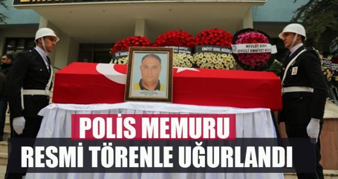 Polis Memuru Resmi Törenle Uğurlandı