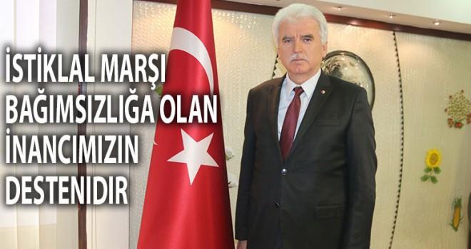 Başkan Tefenlili'den İstiklal Marşının Kabulü Mesajı