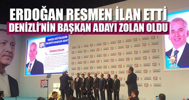 Erdoğan resmen ilan etti! Denizli'nin başkan adayı Osman Zolan oldu: Zolan'dan ilk açıklama