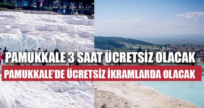 Pamukkale'de Ücretsiz İkramlar da Olacak