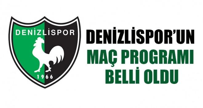 Denizlispor'un Maç Programı Belli Oldu