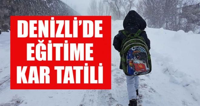 Denizli'de Eğitime Kar Tatili