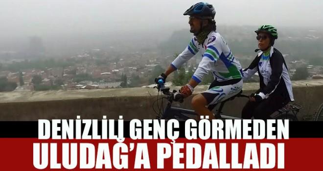 Denizlili Genç Görmeden Uludağ'a Pedalladı
