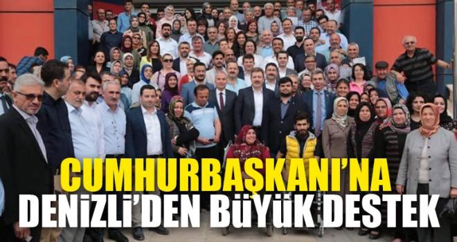 Denizli'de Cumhurbaşkanı'na bağış kampanyası