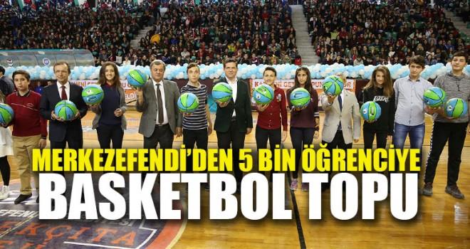 Merkezefendi'den 5 Bin Öğrenciye Basketbol Topu